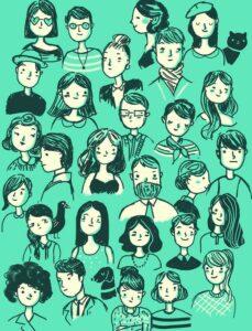 Monenlaisia ihmisiä