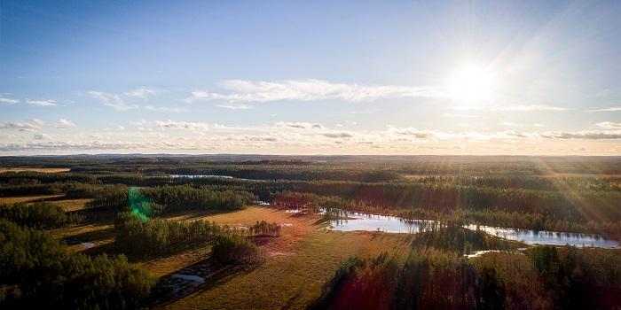 Tiilikkajärven kansallispuiston maisema ilmakuvana