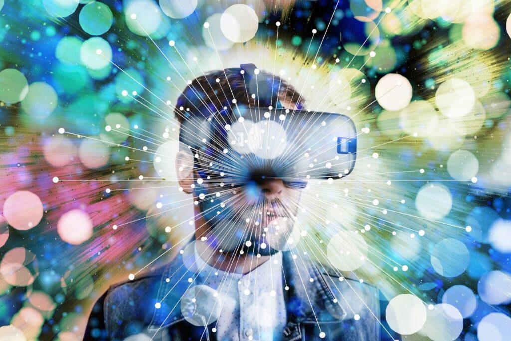 Futuristinen VR-kuva